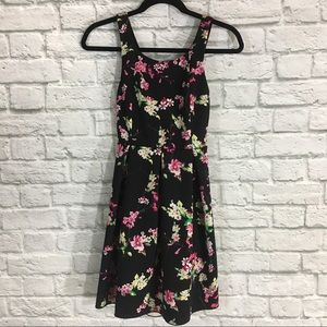 Express Floral Sleeveless Dress with Cutouts Sz 4